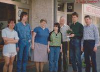 1. April 1990: Kleine Feier zur Ladenübernahme