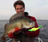Der erste Fisch war gleich ein Kapitaler!